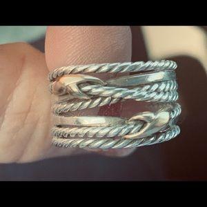 David Yurman Double Crossover Ring